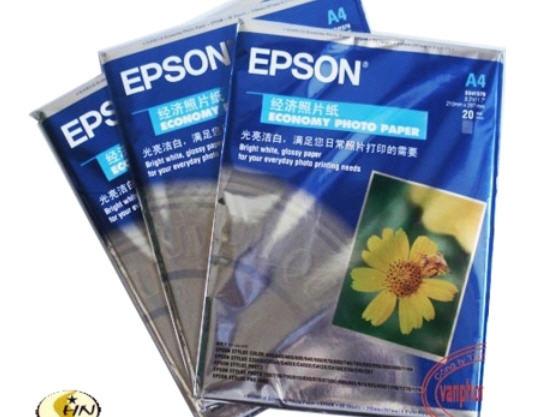 May lanh cu - Giấy in ảnh 1 mặt Epson Hoa Cúc A4