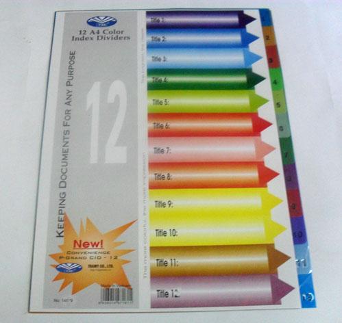 May lanh cu - Chia file nhựa 12 màu
