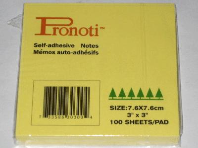 Giấy nhắn Pronoti 3