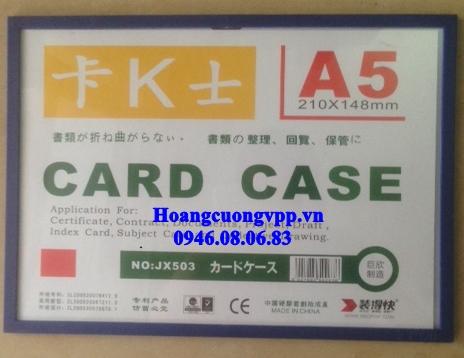 Card case viền màu A5